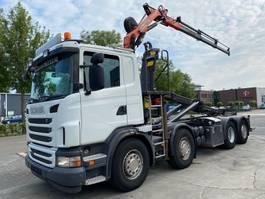 container truck Scania G400 8X2 EURO 5 MET PALIFT + PALFINGER PK 8501 2011
