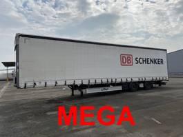 sliding curtain semi trailer Fliegl SZS300  Mega 3 m Innenhöhe SZS300 Twin2 Achs Planenauflieger 2016