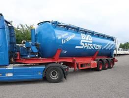 feed semi trailer Feldbinder KIP 52.3 mit Hydraulik + Kompressor 2008