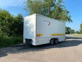 closed box trailer Van Eck DM 12-2 Trailer Langzaam verkeer 1993