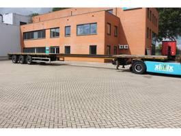 flatbed semi trailer Faymonville 3-ass. Vlakke uitschuifbare oplegger // 2x gestuurd 2005