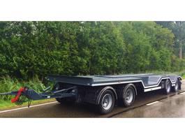 car transporter trailer Menke-Janzen semie-dieplader  4 asser shovel transport 2006