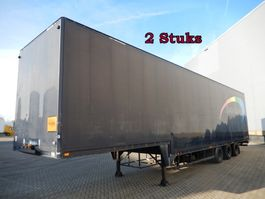 lowloader semi trailer Talson 3 As Oplegger Dieplader Gesloten - Belgisch kenteken, 2 Stuks