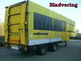 lowloader semi trailer Groenewegen 2 As Oplegger Dieplader Gesloten - Zeil, OD-95-72 1982