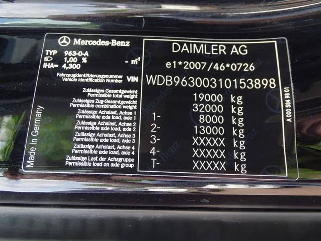 closed box truck > 7.5 t Mercedes Benz ACTROS 1927 6-SEATS NAVI AC CAMERA LIFT 2000 KG 2017