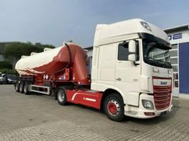 feed semi trailer Feldbinder EUT 54.3 SILO mit ADR AT *Zugmaschine DAF 2009