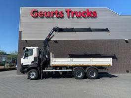 crane truck Renault 6X6 OPEN BOX + HIAB 188 EP-2 HIDUO KRAAN/KRAN/CRANE/GRUA 2016