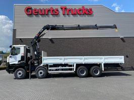 crane truck Renault K 460 8X4 OPEN BOX + HIAB 288 EP-3 HIDUO KRAAN/KRAN/CRANE/GRUA 2016