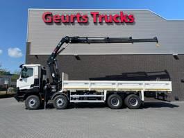 crane truck Renault 8X4 OPEN BOX + HIAB 288 EP-3 HIDUO KRAAN/KRAN/CRANE/GRUA 2016