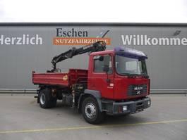 tipper truck > 7.5 t MAN ME 18.250 B, 4x2, Hiab 085-2 Kran, 2 Schalengreifer, Blatt, AHK 2002