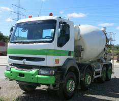 camion à bétonnière Renault Kerax 370 dxi 8x4 Betonmischer 9m³