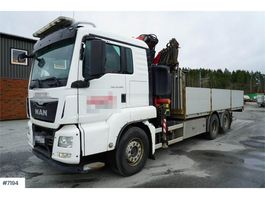 crane truck MAN TGS 26.480 w/ FASSI 27 T/M WATCH VIDEO 2014