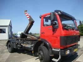 container truck Mercedes Benz 1620 HAAKSYSTEEM ORGINAL 73000 KM,ABS 1988