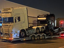 Autotransporter Auflieger VEGA Trailer Vega Promax truck & machine transp. NL registration direct available from stock 2021