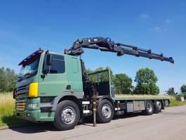 platform truck DAF CF 85.380 8x2 HIAB 400E 2006