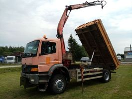 tipper truck > 7.5 t Mercedes-Benz ATEGO 1928 4x4 3way tipper+ crane 1999