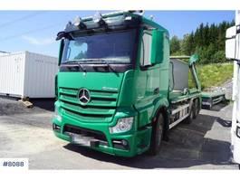 container truck Mercedes Benz Actros 2542 3 axle lift dumpers 2013
