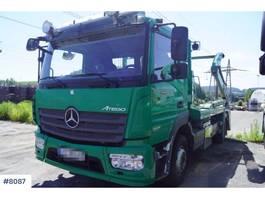 container truck Mercedes Benz Atego 2 axle lift dump truck (double lift) 2014