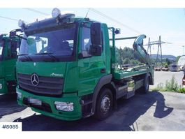 container truck Mercedes Benz Atego 2 axle lift dumpers 2014