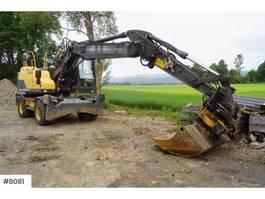 wheeled excavator Volvo EW160D wheeled machine with rotary tilt 2013