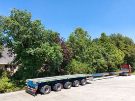 flatbed semi trailer ES-GE V5D.H4-01  2X uitschuifbaar 36M  5 ASSER 4X GESTUURD 2007