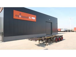Container-Fahrgestell Auflieger Desot SAF INTRADISC, 2x Liftaxle, NL-chassis 1998