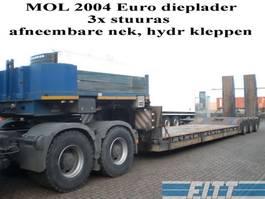 lowloader semi trailer Mol 3ass EURO dieplader 2004