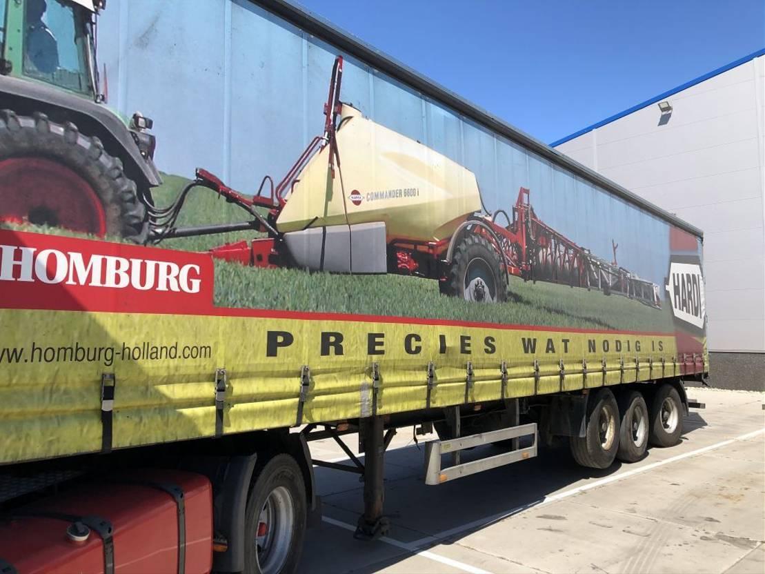 sliding curtain semi trailer Pacton Schuifzeil Curtainside Kooi-aap Truckmounted forklift 2001