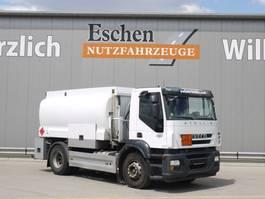 tank truck Iveco AD 190S42 Stralis, Euro 5, Lindner & Fischer A3, Automatik, AHK, Blatt / Luft 2009