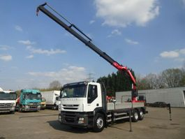 drop side truck Iveco 420 Pritsche Fassi 310XP 4xhydr. 4-Punkt Funk 2009