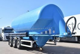 feed semi trailer Feldbinder EUT35.3 Zement Silo Liegend Alufelgen 2011