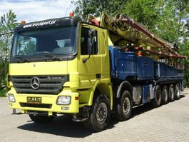 concrete pump truck Mercedes-Benz ACTROS 4158 12x4 Betonpumpe PUTZMEISTER 58-5.16