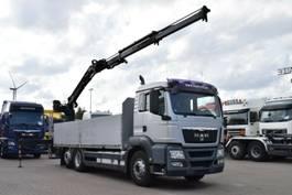 camión grúa MAN TGS 26.480 6x2 Baustoff Atlas 135.2V