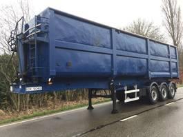 tipper semi trailer Lag 3 asser staal kipper 50m3 50 kuub  lag Nieuwe APK 2007