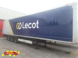 closed box semi trailer Krone Box-oplegger met onderschuiflaadbrug