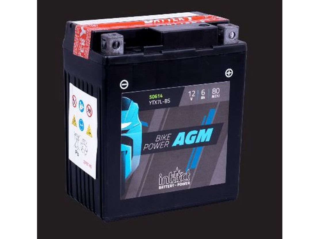 accu motorcycle part Diversen Batterij 12V 6AH (c20) 80A (EN) 50614