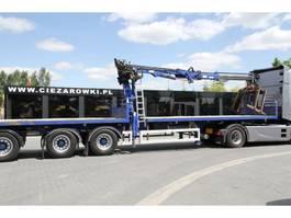 flatbed semi trailer SDC SEMI-TRAILER WITH CRANE TRAILERS LTD 13.6 M 2007