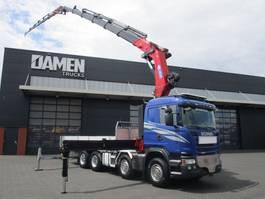 crane truck Scania G490 8x2 Euro 6 2014