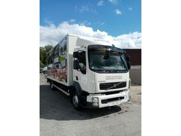 closed box truck Volvo FL240 with taillift D'hollandia 1500kg 2008