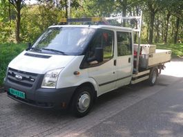 drop side lcv Ford 100 T350 TRANSIT OPEN LAADBAK MET KRAAN 2009
