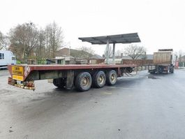 flatbed semi trailer Kaiser UITSCHUIVER!! EXTENSIBLE!! EXTANDABLE!! +++19.00m+++ 1989