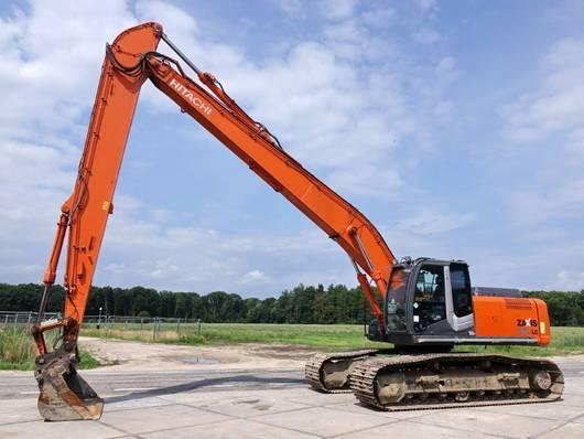 telehandler excavator Hitachi ZX280 LC-3 Long Reach 16 meter / Dutch machine 2011