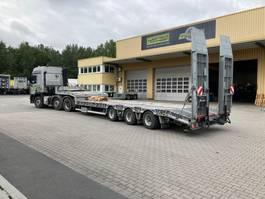 Satteltieflader Auflieger Humbaur 3-Achs-Semi mit hydraulischen Rampen 2018