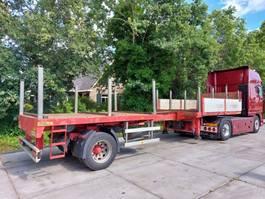 flatbed semi trailer Doll VARIO 1PH  Korte schuiver   2,3m uitschuifbaar handbesturing 2005