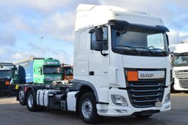 chassis cab truck DAF XF 106.460 BDF 6X2 SC Euro 6 Intarder 2Tanks