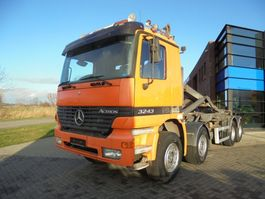 chassis cab truck Mercedes Benz Actros 3243 / Hooklift / Manual / 8x4 / Full Steel - Lames 1999