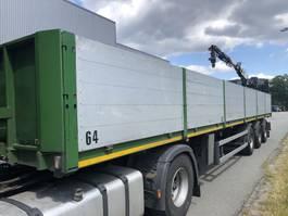 flatbed semi trailer Nooteboom Kraanoplegger / Stenentrailer + Kennis kraan R 11,000 1999