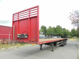 flatbed semi trailer Burg BPO 12-27 OMEGA VLOER 2003