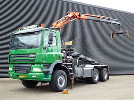 container truck Ginaf X 3335 S 6x6 / CRANE + CONTAINER SYSTEM 2002