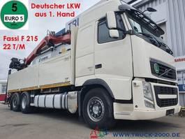 crane truck Volvo FH 12-430 Fassi F215 22T/M 1.Hand Deutscher LKW 2012